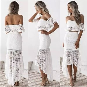 New! HOST PICK! 2 piece lace skirt set.